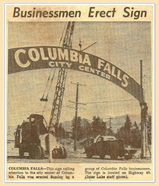 Business Men Erect Arch Sign