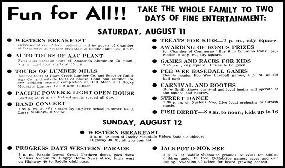 Events Ad In The Hungry Horse News